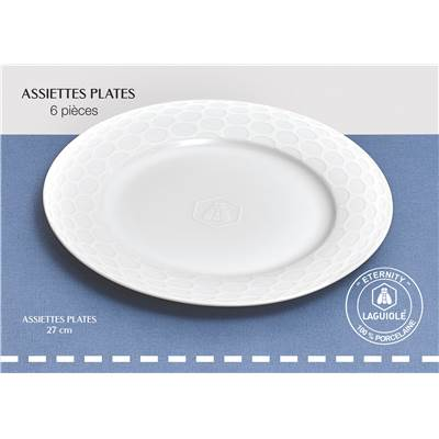 LOT DE 6 ASSIETTE PLATE ETERNITY